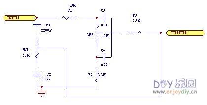 音调前置前级控制电路原理