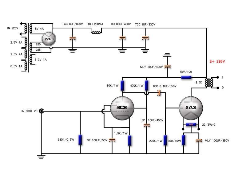 为一位网友画的步线图,我用的是CDR 9软件画的~~~  布局  线路~~  实物布局中。电容太多,排位困难~~图上两个电解声音一般,还是建议用TCC油罐做第一级~~。  大D油罐8UF——大D啡色纸筒40UF X 2(轴向引脚)——压降电阻——20UF(轴向引脚)——廉栅电阻——10UF(轴向引脚),这样配置,声音保证不会令你失望的  修改后布局~~  新线路  随着对胆机的了解与认识