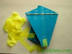 diy简易纸风筝的做法
